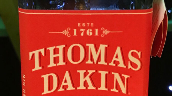 Thomas Dakin gin review